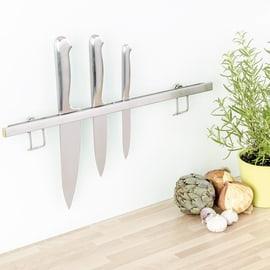 Porta coltelli calamitato adesivo argento P 1.5 cm x L 440 x H 15 mm