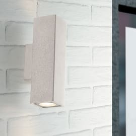 Applique I-OAKLAND-AP2 BCO in ceramica, bianco, GU10 2xMAX35W IP44