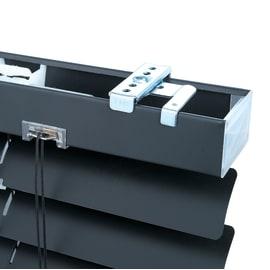 Veneziana INSPIRE Carmel in alluminio, nero, 120x175 cm
