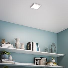 Faretto fisso da incasso quadrato Manoa in metallo, alluminio, LED integrato 15W 1660LM IP44 INSPIRE