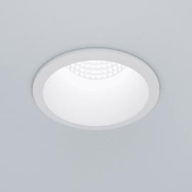 Faretto fisso da incasso tondo Edolo in alluminio, bianco, diam. 8.5 cm LED integrato 10W 1200LM IP20 INSPIRE