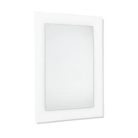 Specchio non luminoso bagno rettangolare Curve L 90 x H 62 cm