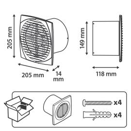 Aspiratore assiale EQUATION Ø 15 mm