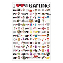 Poster I Love Gaming 61x91.5 cm