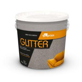 Pittura ad effetto decorativo Glitter 4 l marrone tortora effetto paillette