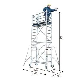 Trabattello FARAONE in alluminio per lavori fino a 5.39 m