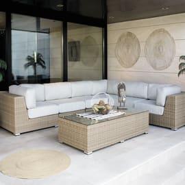 Tavolino da giardino rettangolare Big Costarica in alluminio L 80 x P 180 cm