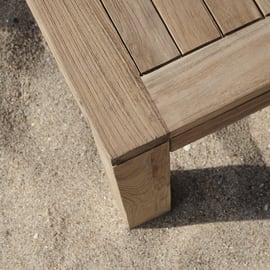 Tavolino da giardino rettangolare Boston in legno L 80 x P 140 cm