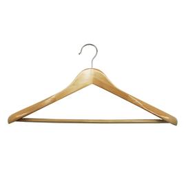 Gruccia a spalla larga Spaceo L 45 x H 23 cm legno naturale
