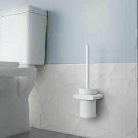 Porta scopino wc a muro Dublin in zinco bianco