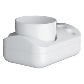 Bicchiere porta spazzolini 2900 in plastica bianco