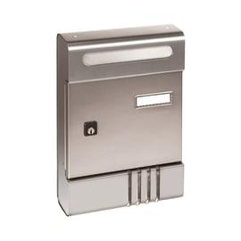 Cassetta postale formato Lettera, argento, L 20.4 x P 7 x H 29 cm