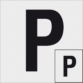Cartello segnaletico Adesiva principiante vinile 30 x 30 cm