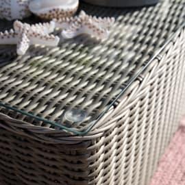 Tavolino da giardino rettangolare Costarica NATERIAL in alluminio x P 110 cm