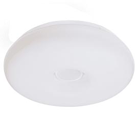 Plafoniera Donut bianco, in plastica, 40x40 cm, diam. 40, LED integrato 10W 2500LM IP21 INSPIRE