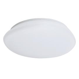 Plafoniera Julia bianco, in plastica, 40x40 cm, diam. 40, LED integrato 12W 2500LM IP21 INSPIRE
