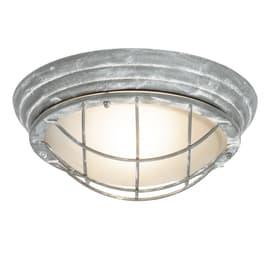 Applique Olena in metallo, grigio, E27 MAX60W IP44 BRILLIANT