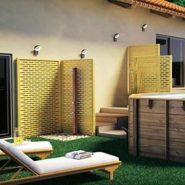 Doccia per piscina  solare GRE effetto legno 20 L