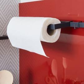 Porta rotolo carta assorbente da appoggio antracite e argento P 25.4 cm x L 17.5 x H 85.4 mm