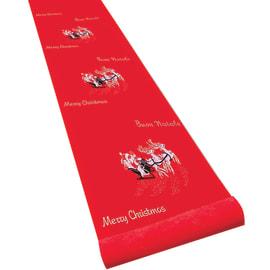 Passatoia decoro renne rosso L 1 m