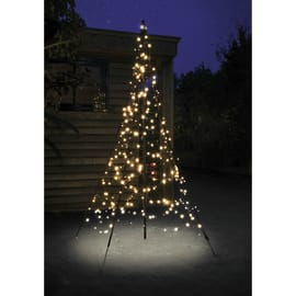 Albero 300 lampadine bianco caldo H 200 cm