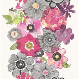 Carta da parati Fiore stilizzato rosa