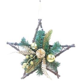 Fuoriporta Stella in legno H 30 cm, L 30 cm  x P 2 cm