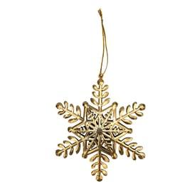 Fiocco di neve in metallo dorato Ø 8 cm