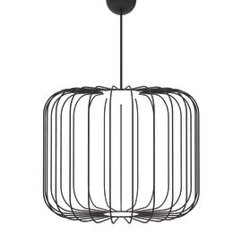 Lampadario Cage S nero, in metallo, diam. 50 cm, E27 MAX7.5W IP20 LUMICOM