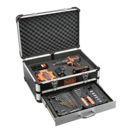 Trapano avvitatore a batteria con percussione BLACK+DECKER , 18 V1.5 Ah, 2 batterie