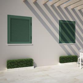 Persiana oscillo-battente in alluminio verde L 100 x H 120 cm, spessore telaio 115 mm