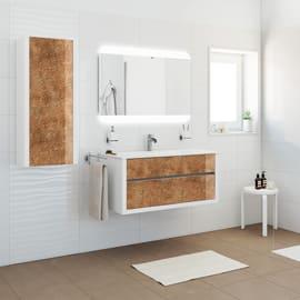 Mobile bagno Elegance bianco e bronzo L 100 cm