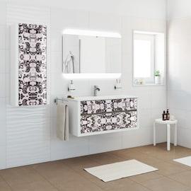 Mobile bagno Elegance bianco e floreale L 100 cm