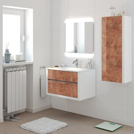 Mobile bagno Elegance bianco e bronzo L 75 cm