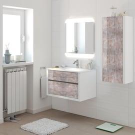 Mobile bagno Elegance bianco decapè L 75 cm