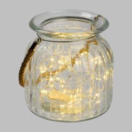 Barattolo 40 lampadine bianco caldo H 14.5 cm