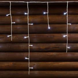 Tenda luminosa 180 lampadine led bianco freddo H 18 x L 768 cm