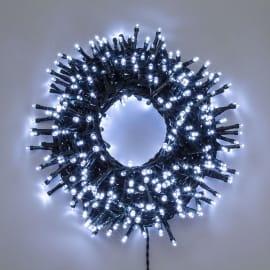 Catena luminosa 1000 lampadine LED bianco freddo 2450 cm