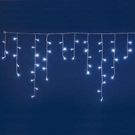 Tenda luminosa 60 lampadine led bianco freddo H 70 x L 300 cm
