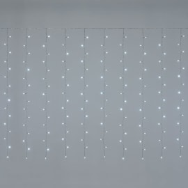 Tenda luminosa 384 lampadine led bianco freddo H 150 x L 500 cm