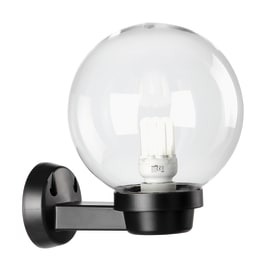 Applique Globo in plastica, trasparente, E27 MAX60W IP44