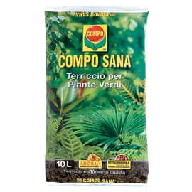 Terriccio COMPO Sana piante verdi 10 L