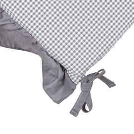 Cuscino per seduta country grigio 40x40 cm