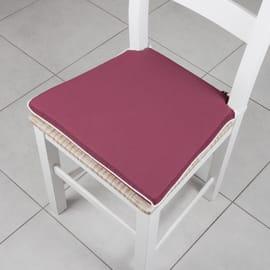 Cuscino per seduta lisa bordeaux 40x40 cm