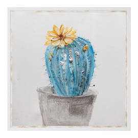 Dipinto su tela Cactus 34.6x34.6 cm