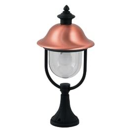 Lampioncino Venezia H53.8cm in alluminio, nero e rame, E27 1xMAX60W IP44