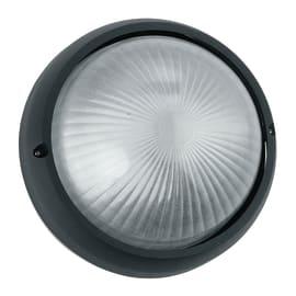 Plafoniera 3072/S NR in alluminio + vetro, nero, E27 MAX42W IP44