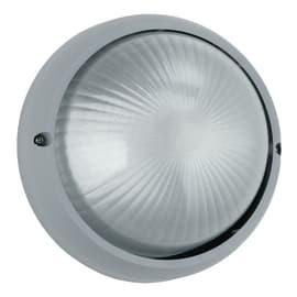 Plafoniera 3072S/SIL in alluminio + vetro, silver, E27 MAX42W IP44