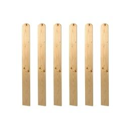 Balaustra Western 6 pz 89 x 9,5 cm in legno L 89 x H 9.5 cm noce