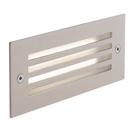 Faretto da incasso da esterno rettangolare BOLT-GRILL LED integrato in alluminio, grigio metallizzato, 6W 480LM IP65